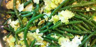 Recette romanesco et haricots verts aux amandes